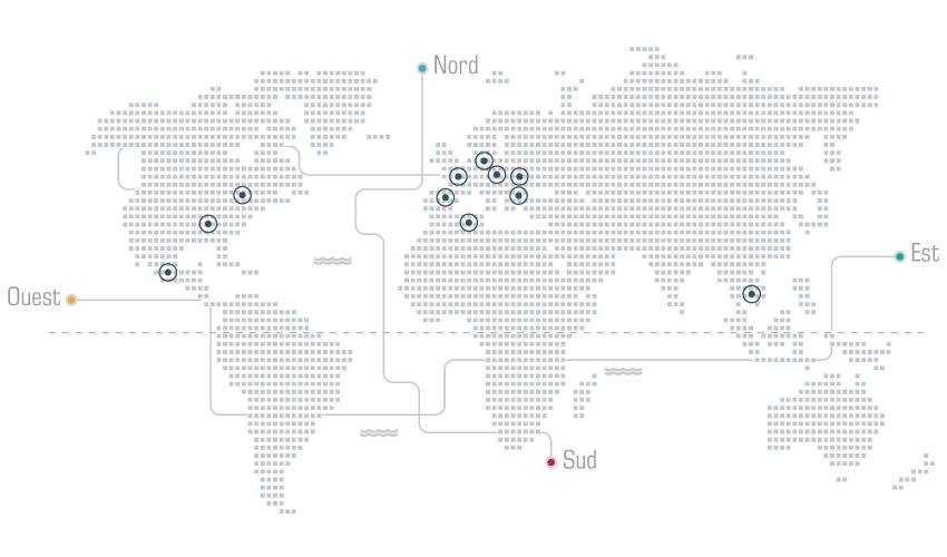 Carte de la présence globale de Codix